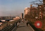 Image of Pedestrians on Brooklyn Queens Expressway New York City USA, 1965, second 6 stock footage video 65675033342