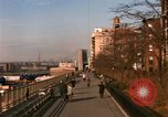 Image of Pedestrians on Brooklyn Queens Expressway New York City USA, 1965, second 7 stock footage video 65675033342
