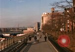 Image of Pedestrians on Brooklyn Queens Expressway New York City USA, 1965, second 12 stock footage video 65675033342
