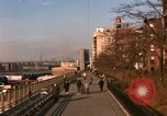 Image of Pedestrians on Brooklyn Queens Expressway New York City USA, 1965, second 13 stock footage video 65675033342