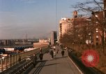 Image of Pedestrians on Brooklyn Queens Expressway New York City USA, 1965, second 15 stock footage video 65675033342