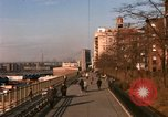 Image of Pedestrians on Brooklyn Queens Expressway New York City USA, 1965, second 16 stock footage video 65675033342