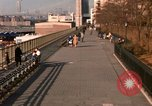 Image of Pedestrians on Brooklyn Queens Expressway New York City USA, 1965, second 24 stock footage video 65675033342