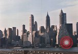 Image of Pedestrians on Brooklyn Queens Expressway New York City USA, 1965, second 39 stock footage video 65675033342
