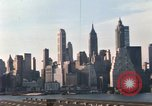 Image of Pedestrians on Brooklyn Queens Expressway New York City USA, 1965, second 40 stock footage video 65675033342