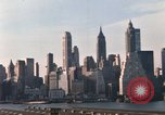 Image of Pedestrians on Brooklyn Queens Expressway New York City USA, 1965, second 47 stock footage video 65675033342