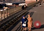 Image of Pedestrians on Brooklyn Queens Expressway New York City USA, 1965, second 59 stock footage video 65675033342
