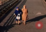 Image of Pedestrians on Brooklyn Queens Expressway New York City USA, 1965, second 61 stock footage video 65675033342