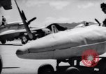 Image of 110 gallon auxiliary fuel tanks Korea, 1951, second 36 stock footage video 65675033387