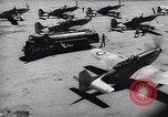 Image of F-51 aircraft of US 18th Fighter Bomber Wing Korea, 1951, second 56 stock footage video 65675033404