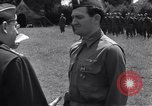 Image of Lieutenant General Brereton decorates fliers Criqueville France, 1944, second 56 stock footage video 65675033412