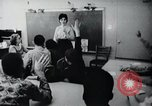 Image of Math and reading education for mentally disabled United States USA, 1969, second 46 stock footage video 65675033427