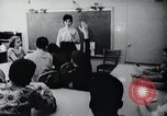 Image of Math and reading education for mentally disabled United States USA, 1969, second 48 stock footage video 65675033427