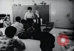 Image of Math and reading education for mentally disabled United States USA, 1969, second 49 stock footage video 65675033427
