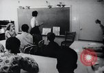 Image of Math and reading education for mentally disabled United States USA, 1969, second 50 stock footage video 65675033427