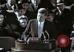 Image of John F Kennedy's Inaugural speech Washington DC USA, 1961, second 8 stock footage video 65675034027