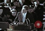 Image of John F Kennedy's Inaugural speech Washington DC USA, 1961, second 15 stock footage video 65675034027