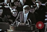 Image of John F Kennedy's Inaugural speech Washington DC USA, 1961, second 17 stock footage video 65675034027