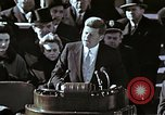 Image of John F Kennedy's Inaugural speech Washington DC USA, 1961, second 18 stock footage video 65675034027