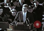 Image of John F Kennedy's Inaugural speech Washington DC USA, 1961, second 20 stock footage video 65675034027