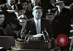 Image of John F Kennedy's Inaugural speech Washington DC USA, 1961, second 21 stock footage video 65675034027