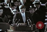 Image of John F Kennedy's Inaugural speech Washington DC USA, 1961, second 26 stock footage video 65675034027