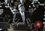 Image of John F Kennedy's Inaugural speech Washington DC USA, 1961, second 27 stock footage video 65675034027