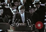 Image of John F Kennedy's Inaugural speech Washington DC USA, 1961, second 28 stock footage video 65675034027