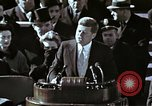 Image of John F Kennedy's Inaugural speech Washington DC USA, 1961, second 30 stock footage video 65675034027