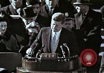 Image of John F Kennedy's Inaugural speech Washington DC USA, 1961, second 32 stock footage video 65675034027