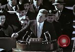 Image of John F Kennedy's Inaugural speech Washington DC USA, 1961, second 33 stock footage video 65675034027