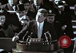 Image of John F Kennedy's Inaugural speech Washington DC USA, 1961, second 37 stock footage video 65675034027