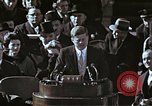 Image of John F Kennedy's Inaugural speech Washington DC USA, 1961, second 49 stock footage video 65675034027