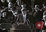 Image of John F Kennedy's Inaugural speech Washington DC USA, 1961, second 50 stock footage video 65675034027