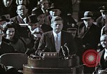 Image of John F Kennedy's Inaugural speech Washington DC USA, 1961, second 52 stock footage video 65675034027