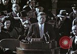 Image of John F Kennedy's Inaugural speech Washington DC USA, 1961, second 53 stock footage video 65675034027
