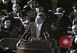 Image of John F Kennedy's Inaugural speech Washington DC USA, 1961, second 56 stock footage video 65675034027