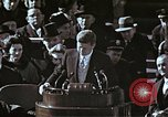 Image of John F Kennedy's Inaugural speech Washington DC USA, 1961, second 57 stock footage video 65675034027