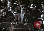 Image of John F Kennedy's Inaugural speech Washington DC USA, 1961, second 58 stock footage video 65675034027
