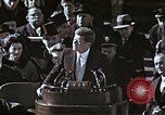 Image of John F Kennedy's Inaugural speech Washington DC USA, 1961, second 60 stock footage video 65675034027