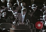 Image of John F Kennedy's Inaugural speech Washington DC USA, 1961, second 62 stock footage video 65675034027
