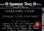 Image of American civil war period dancing Oakland California USA, 1919, second 1 stock footage video 65675035194
