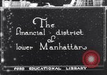 Image of Wall Street financial center 1920s New York City USA, 1925, second 1 stock footage video 65675036356