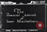Image of Wall Street financial center 1920s New York City USA, 1925, second 3 stock footage video 65675036356