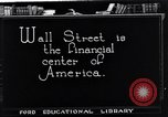 Image of Wall Street financial center 1920s New York City USA, 1925, second 9 stock footage video 65675036356