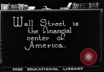 Image of Wall Street financial center 1920s New York City USA, 1925, second 10 stock footage video 65675036356