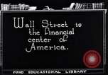 Image of Wall Street financial center 1920s New York City USA, 1925, second 12 stock footage video 65675036356
