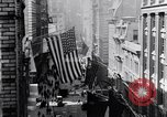 Image of Wall Street financial center 1920s New York City USA, 1925, second 16 stock footage video 65675036356