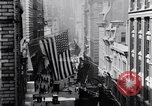 Image of Wall Street financial center 1920s New York City USA, 1925, second 17 stock footage video 65675036356
