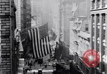 Image of Wall Street financial center 1920s New York City USA, 1925, second 18 stock footage video 65675036356